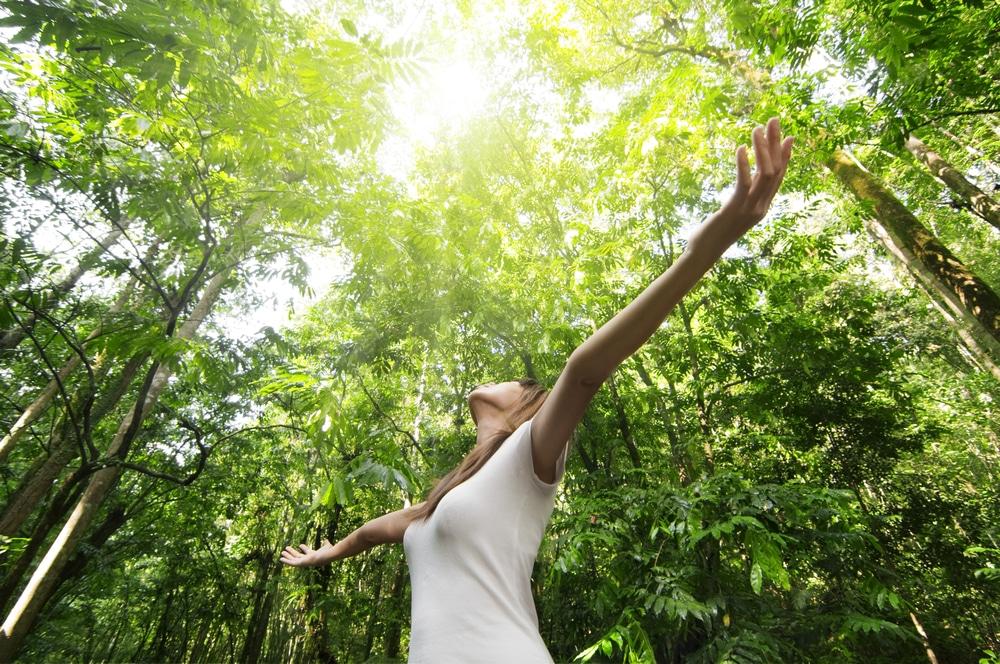enjoying,the,nature.,young,woman,arms,raised,enjoying,the,fresh